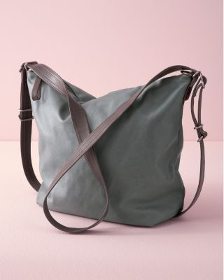 Rough & Tumble Convertible Leather Hobo Bag