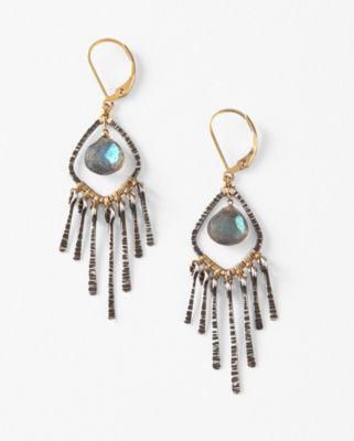 Dana Kellin Labradorite Fringe Earrings