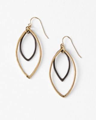 Mickey Lynn Handmade Mixed-Metal Drop Earrings