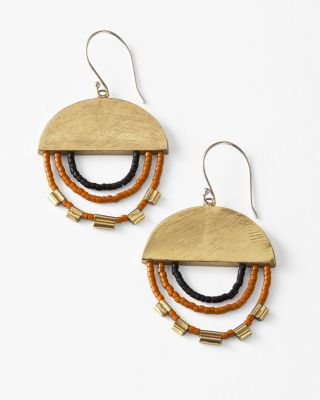Satomi Studio Handmade Beaded Disc Earrings