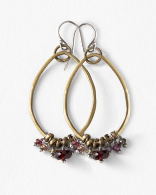 Original Hardware Red Sapphire Mix Earrings