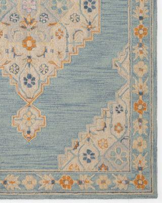 Aviva Floral Hand-Hooked Wool Rug