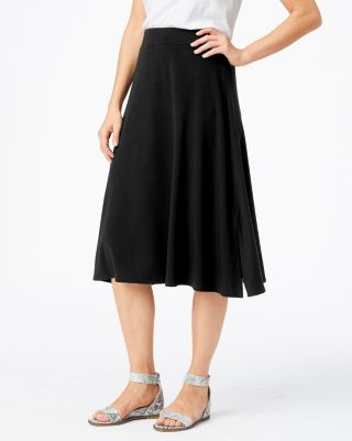 Side-Slit Knit Midi Skirt
