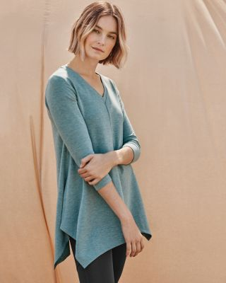 Pop-Over Knit Tunic Top