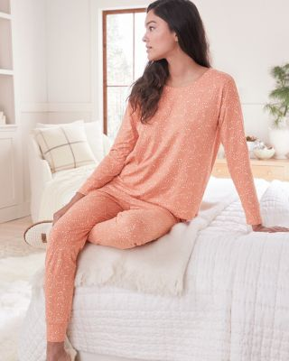 Relaxed Organic Cotton Knit Jogger Pajamas
