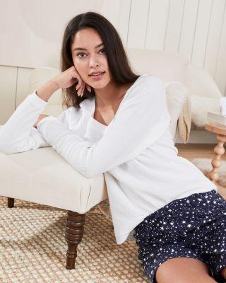 Women's Waffle-Knit Sleep Shirt