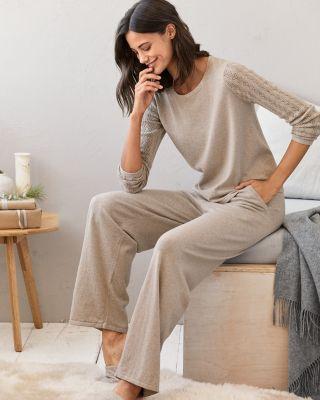 Pointelle Cashmere Pajamas