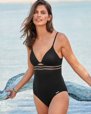 Vince Camuto Coast Lines Mesh Elastic One-Piece Mio Swimsuit