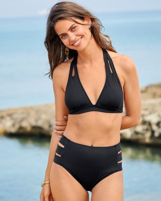 La Blanca Island Goddess Halter Bikini Top
