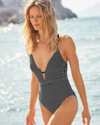 La Blanca Pinstripes One-Piece Swimsuit