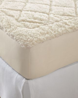 Quilted Wool-Fleece Reversible Mattress Pad