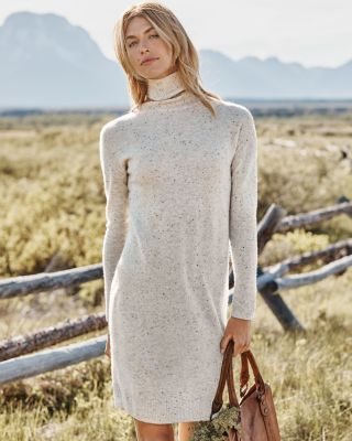 Recycled-Cashmere Turtleneck Sweater Dress
