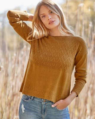 Women's Wool and Linen Boatneck Sweater