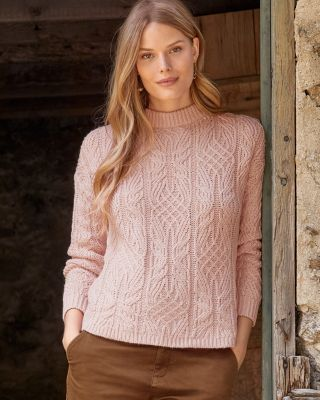 Women's Wool and Linen Fisherman's Sweater