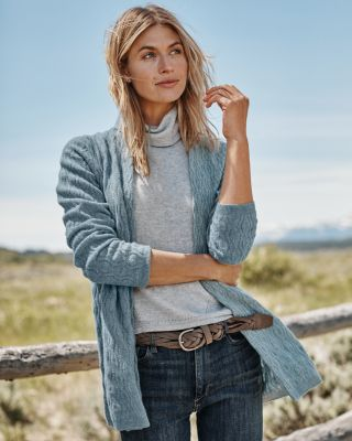 Essential Cashmere Cabled Cardigan Sweater