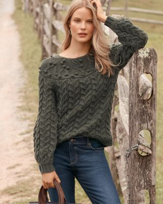 Shimmering Fair Isle Cashmere Pullover