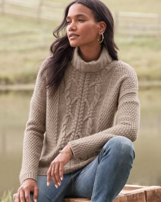 Recycled-Cashmere Cozy Turtleneck Sweater