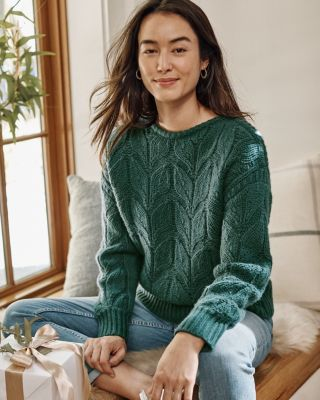 Recycled-Cashmere Chunky Boatneck Sweater