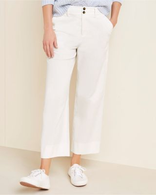 Women's Cropped Wide-Leg Corduroy Pants