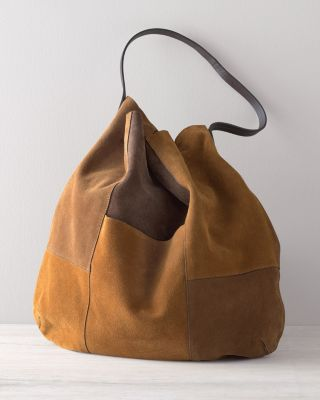 Brooks Suede Hobo Tote