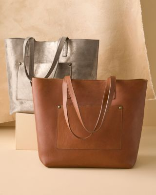 Alba Everyday Leather Tote Bag