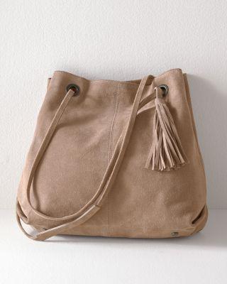Ari Suede Bucket Handbag