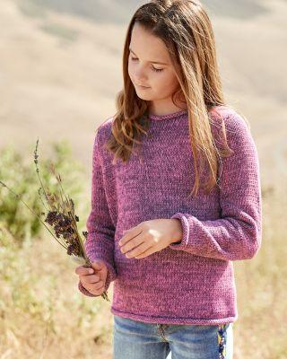 Kids' Marled Organic Cotton Rollneck Sweater