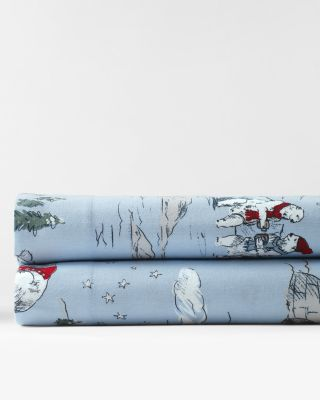 Polar Bear Cotton Flannel Sheets