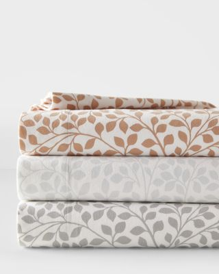 Swirling Leaves Supima Cotton Flannel Sheets
