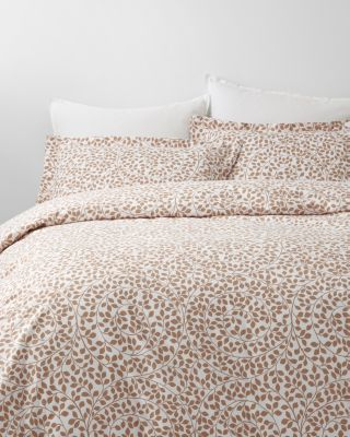 Swirling Leaves Supima Flannel Duvet Cover