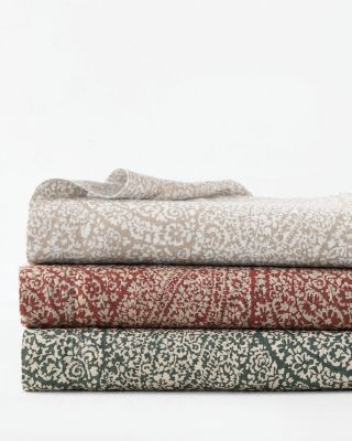 Paisley Relaxed-Linen Sheets