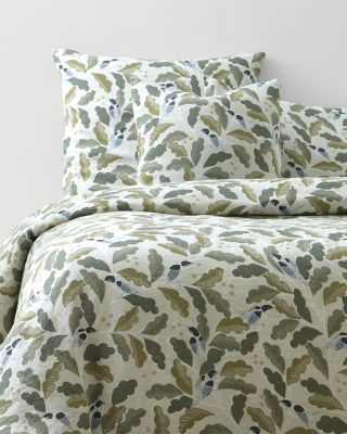 Little Birds Relaxed-Linen Duvet Cover
