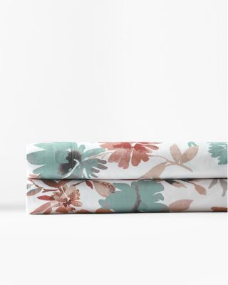 Giverny Floral Relaxed-Organic-Cotton Sateen Sheets