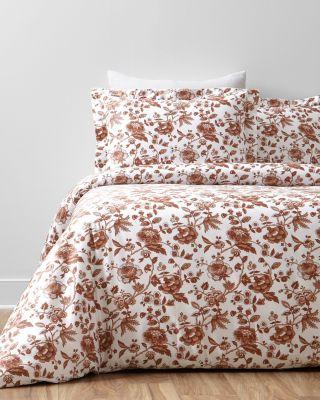 Wrinkle-Resistant Marguerite Sateen Duvet Cover