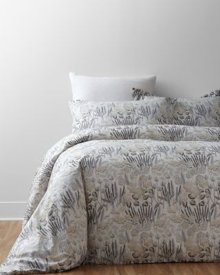 Sophia Floral Hemstitched Supima Percale Duvet Cover