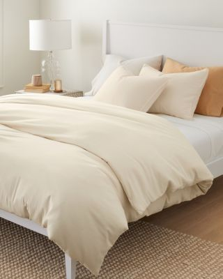 Relaxed-Organic-Cotton Sateen Duvet Cover
