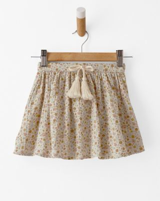 Girls' Printed Cotton Pull-On Skirt by Rylee + Cru