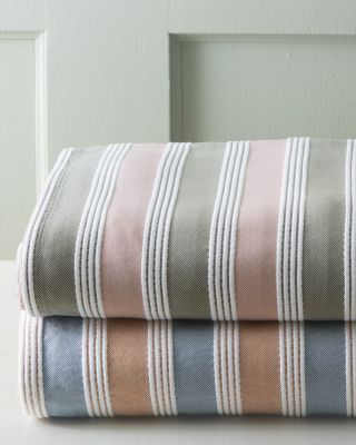 Emerson Striped Cotton Blanket by Garnet Hill