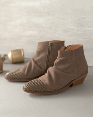 Chloe Studded-Toe Suede Boots