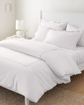 Garnet Hill Signature Sweet Dreams Embroidered Percale Duvet Cover