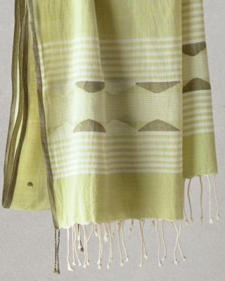 EILEEN FISHER Hand-Loomed Organic-Cotton Triangles Scarf Wrap