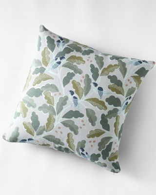 Little Birds Relaxed-Linen Pillow Cover