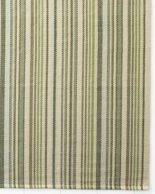 Cottage Stripe Cotton Rug Eden Blue Multistripe