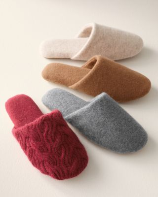 Women's Cashmere Slides Slippers