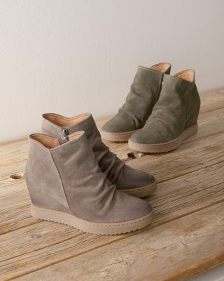 Siri Suede Wedge Boots by Sofft