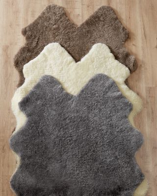 Curly Sheepskin Rug by Garnet Hill.