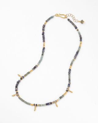 Short Mixed-Stone Necklace by Robindira Unsworth