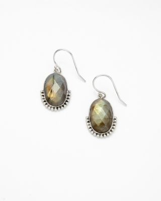 Embellished Labradorite Drop Earrings by Satya