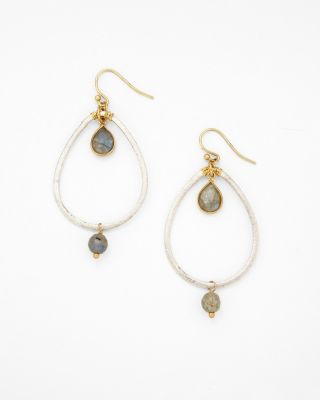 Mixed-Metal Teardrop Earrings by Chan Luu