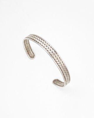 Chevron-Detail Silver Cuff Bracelet by Satya